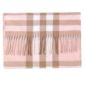 Accessories - Pink Oversized Plaid Scarf